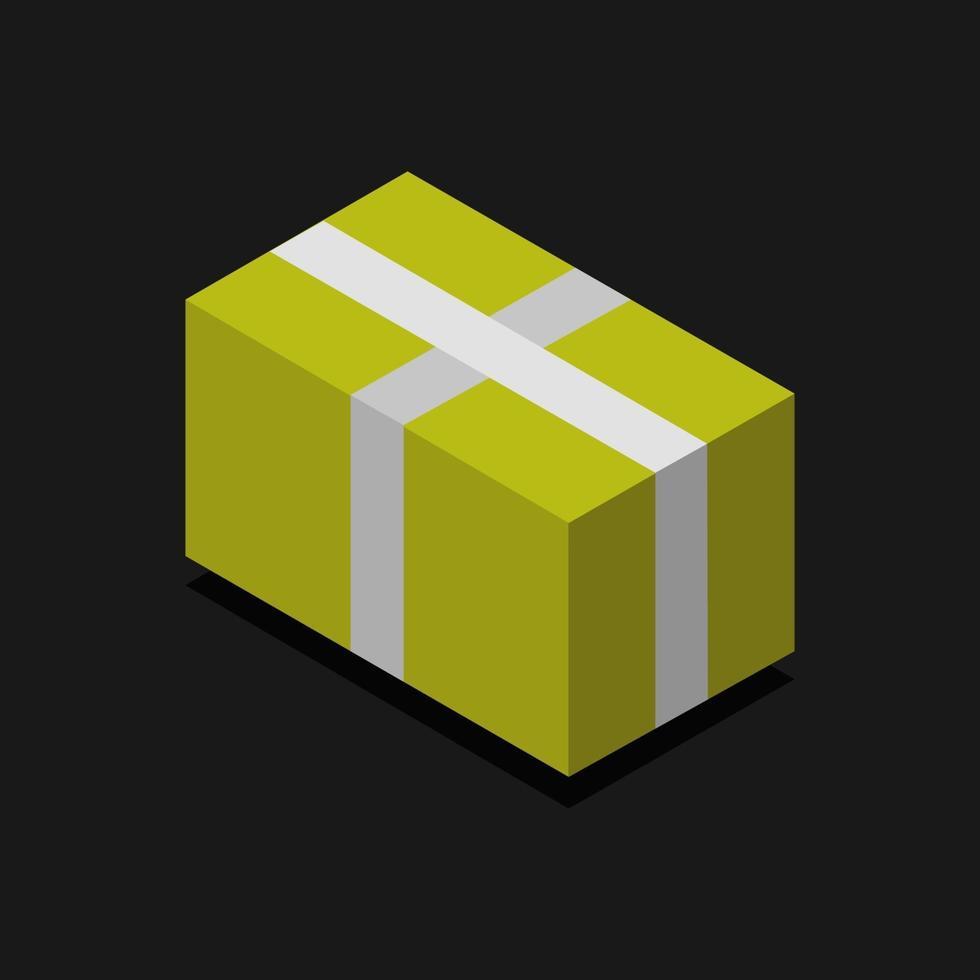 icono de regalo en el fondo vector