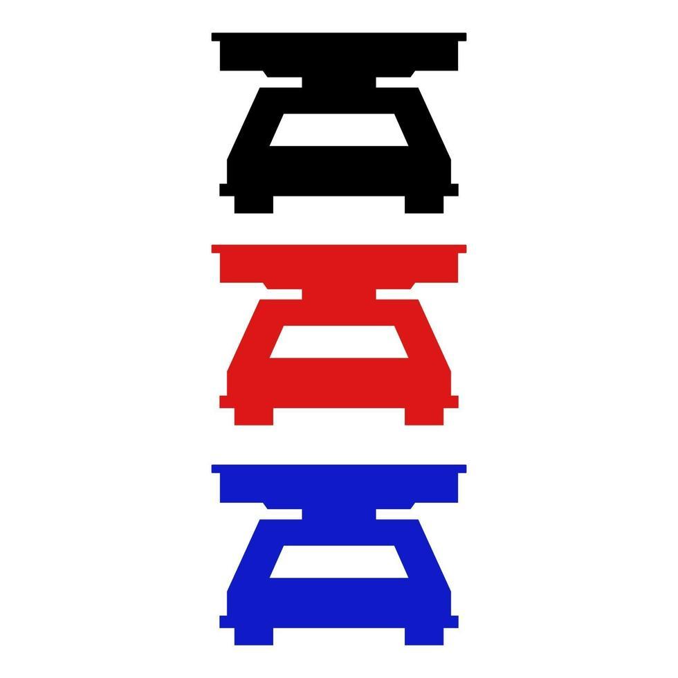 icono de balanza de cocina en el fondo vector