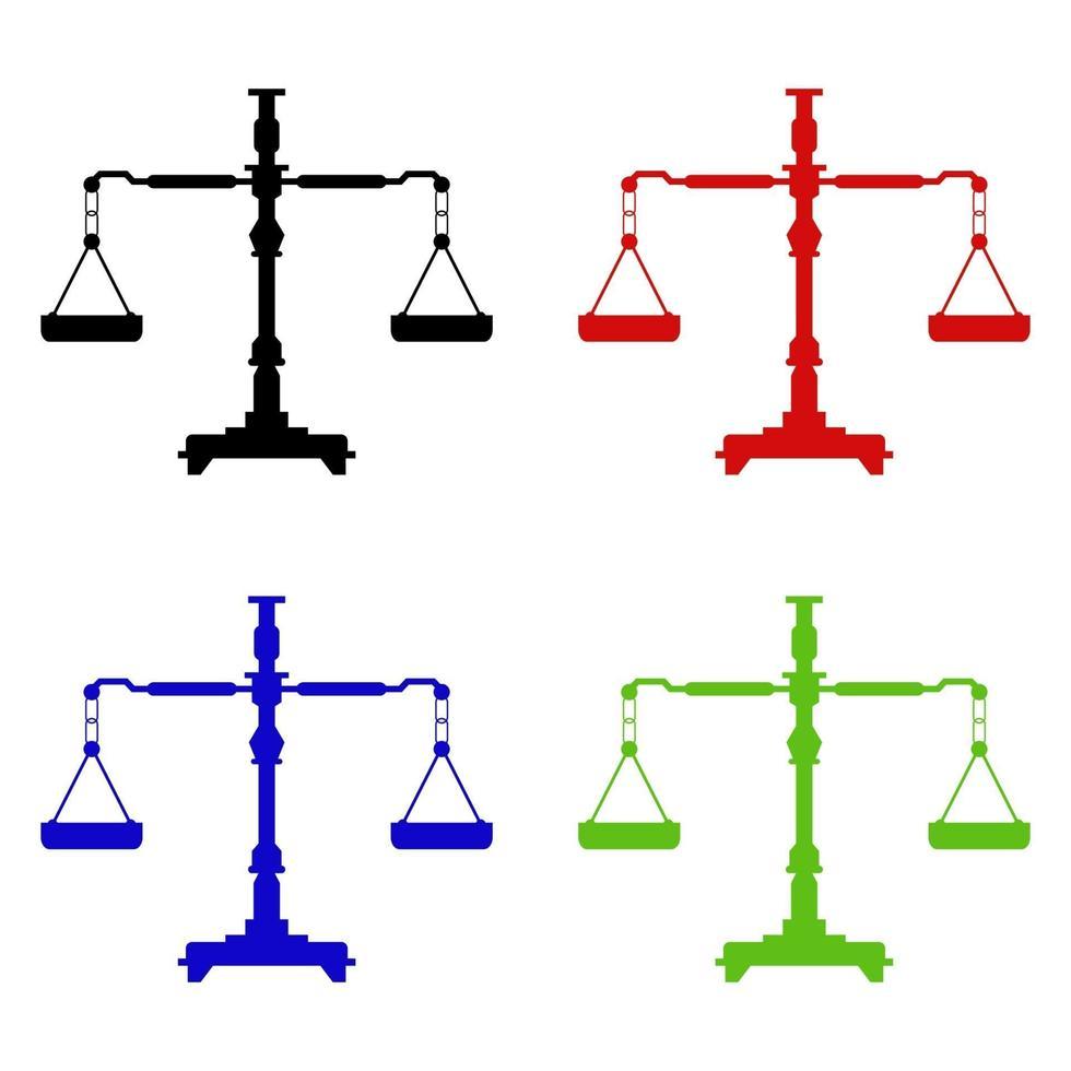 icono de escala de peso en el fondo vector