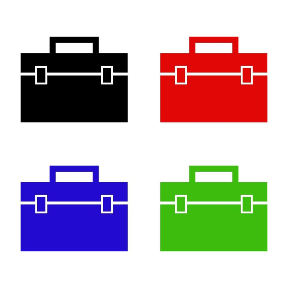 icono de bolsa de trabajo en el fondo vector
