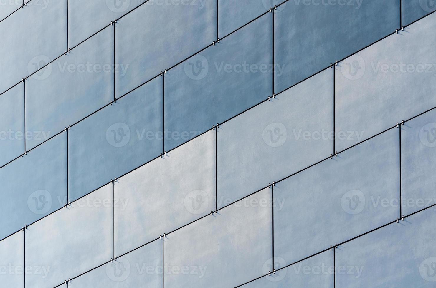 Blue tile wall photo