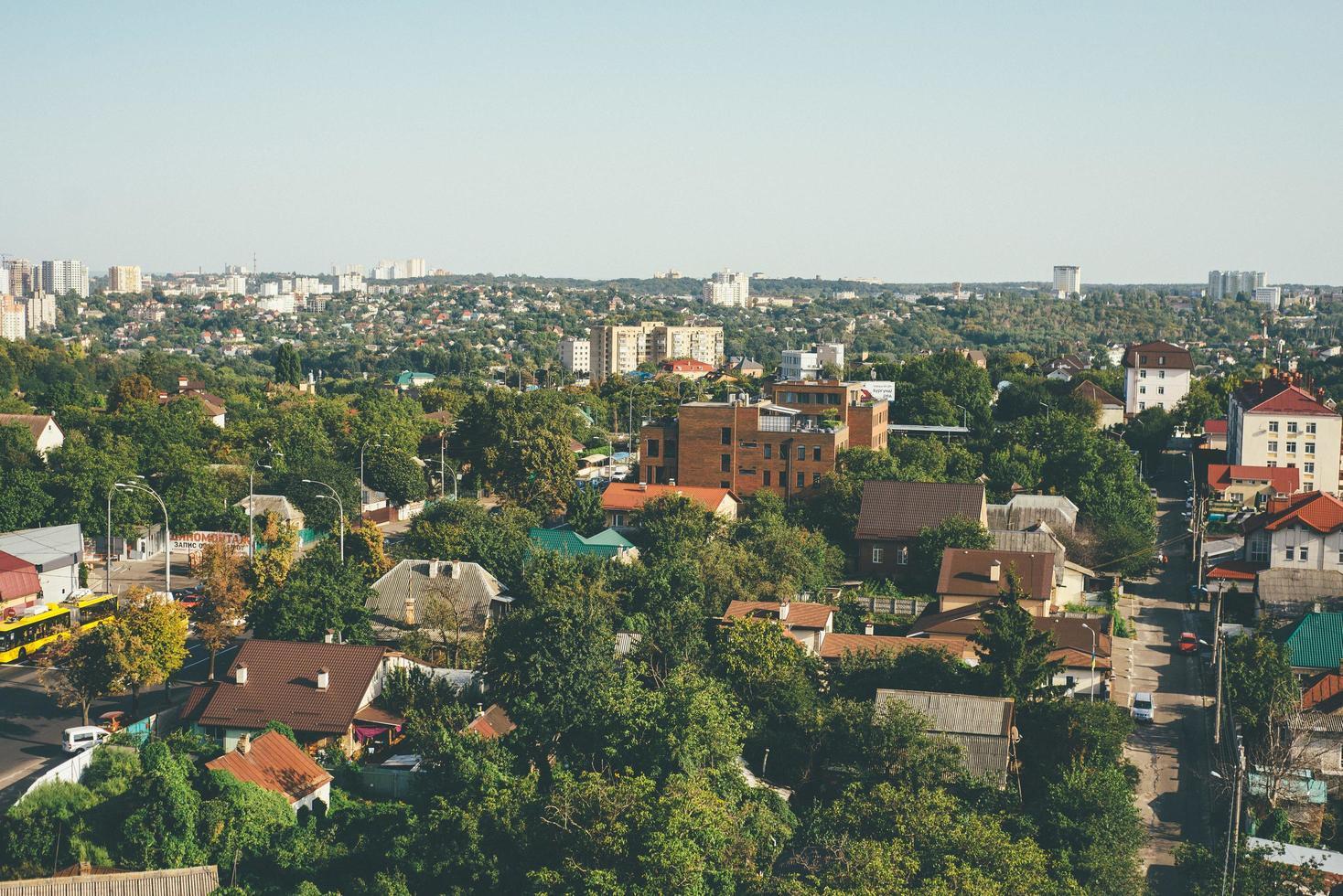 Aerial view of Kyiv photo