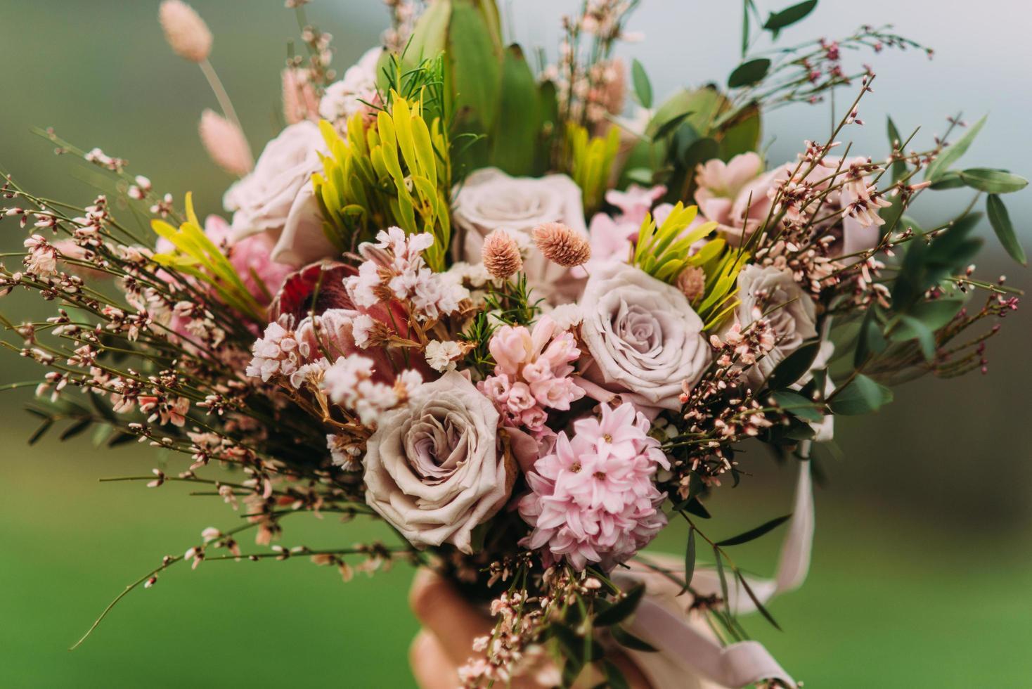 Stylish wedding bouquet photo