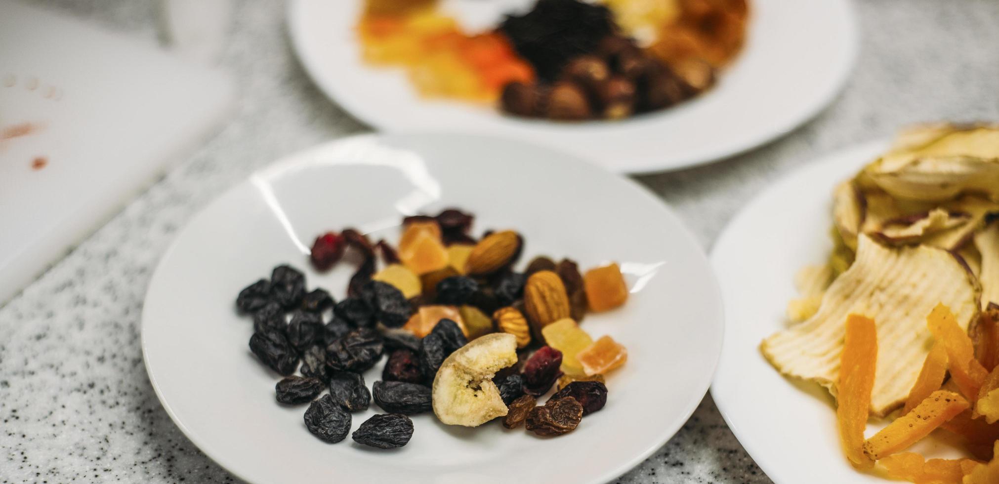 Dried fruit snacks photo