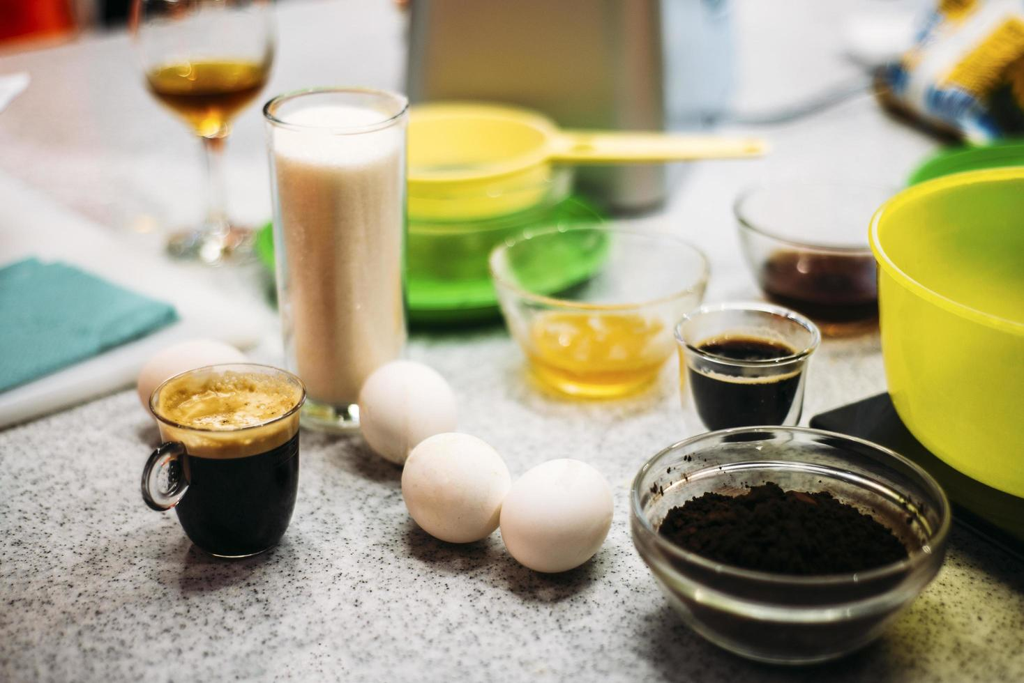 Eggs and coffee photo
