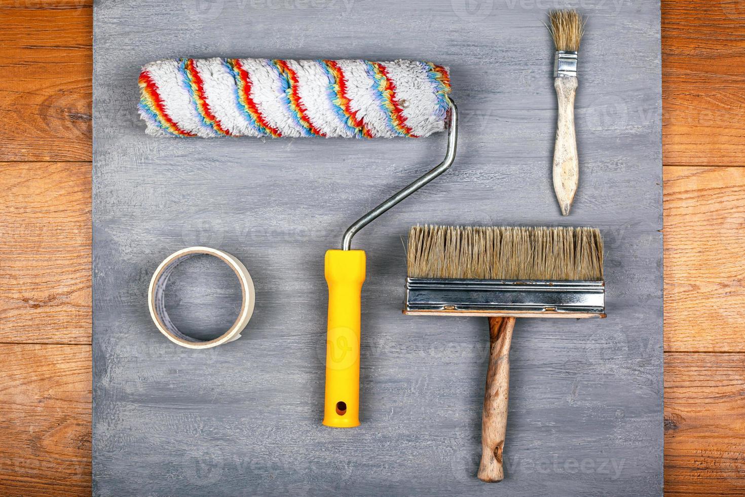 herramientas para pintar paredes y techos foto