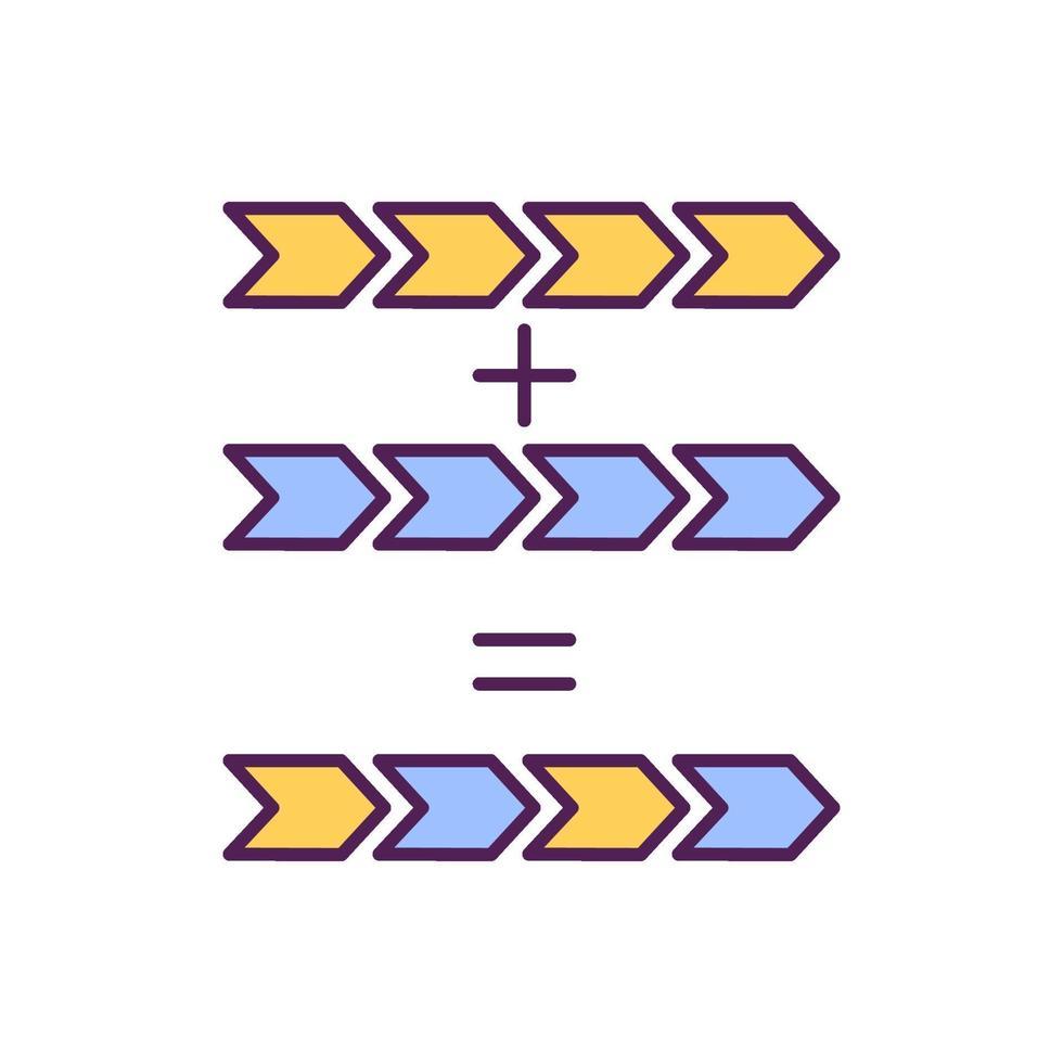 Mutation process RGB color icon vector