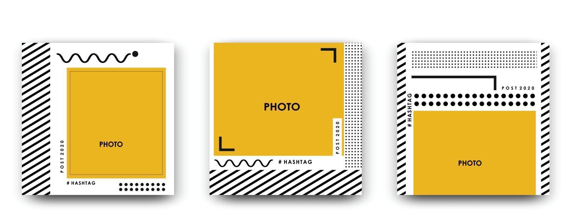 Photo square frame. Vector illustration