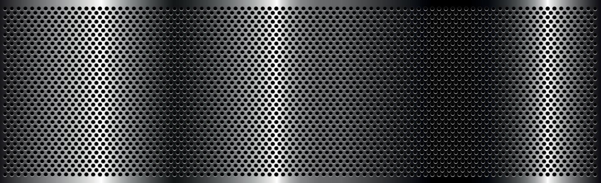 Hierro perforado plateado con reflejos blancos vector