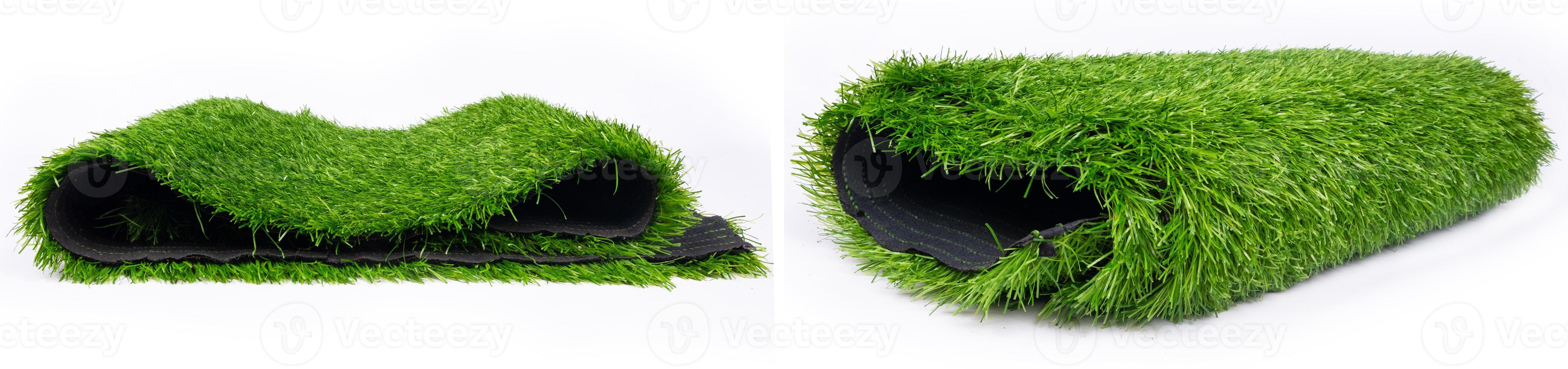 Rollos de plástico panorama de césped verde, alfombrilla para campos deportivos foto