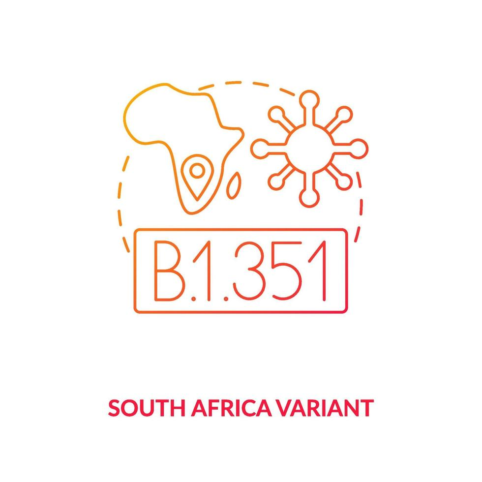 South africa variant concept icon vector