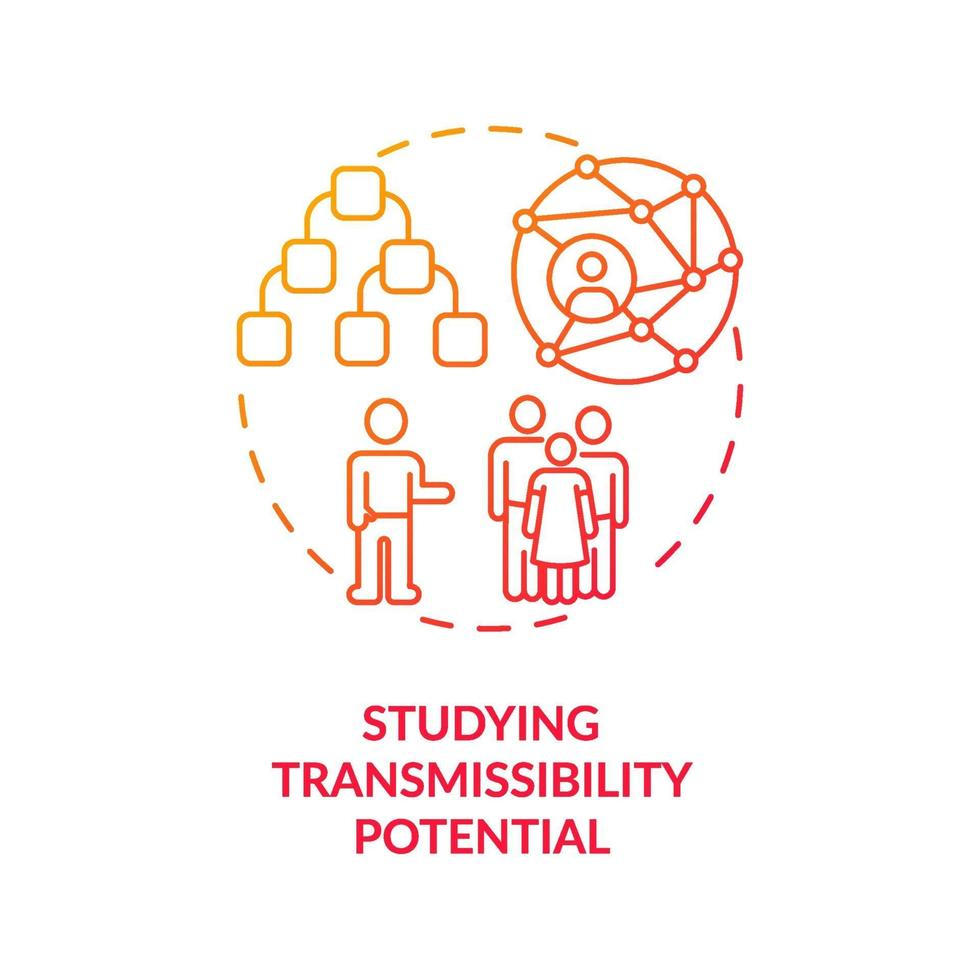 Studying transmissibility potential concept icon vector