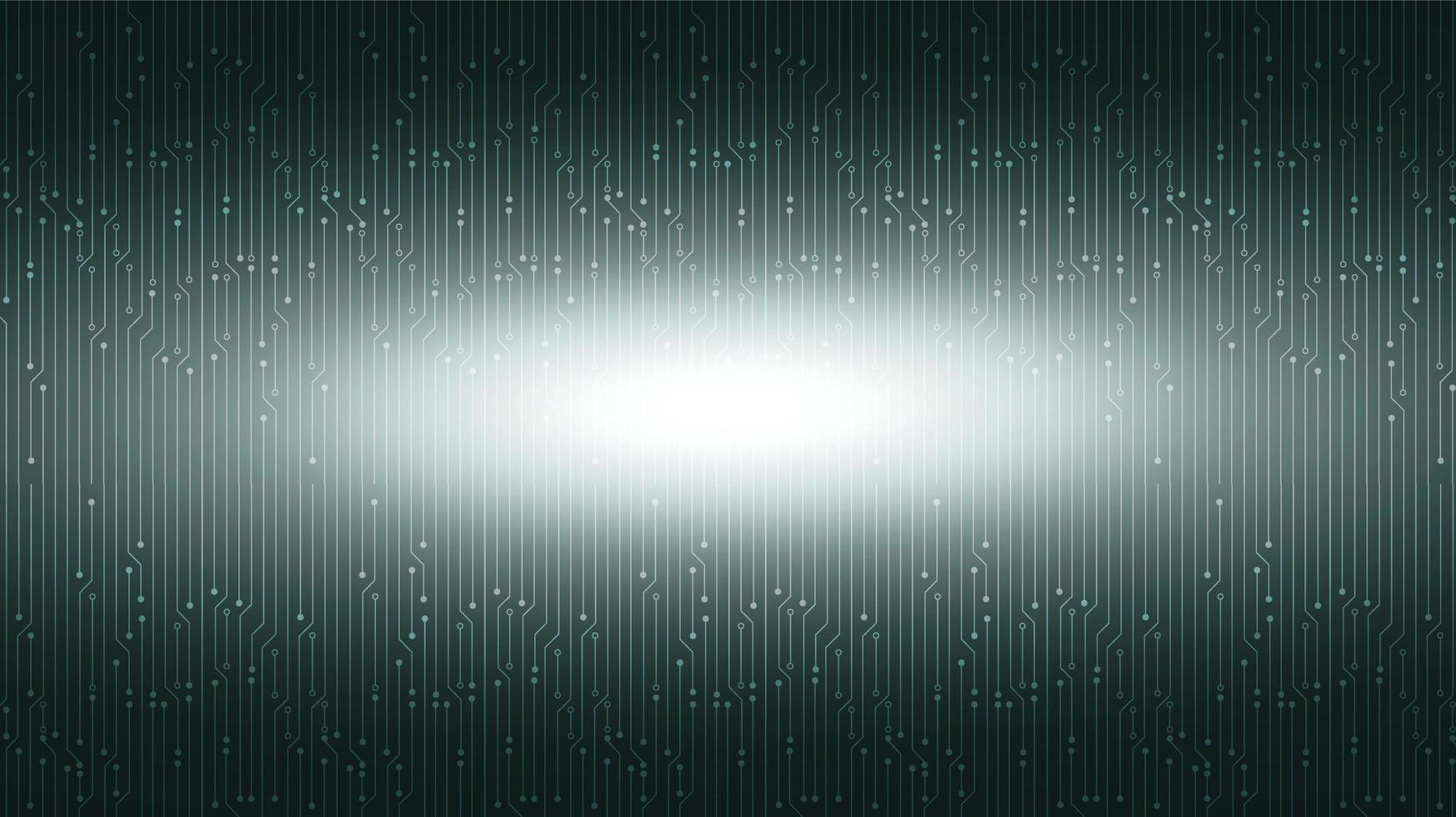 Fondo de tecnología de luz verde, diseño de concepto digital y de comunicación de alta tecnología, espacio libre para texto vector