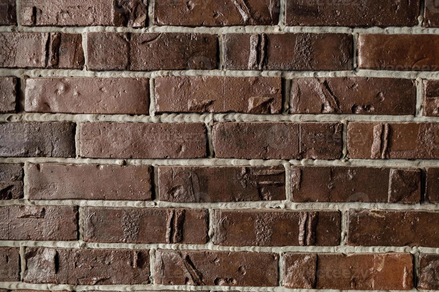 Old brown brick wall, background, texture. Background for screensaver. photo