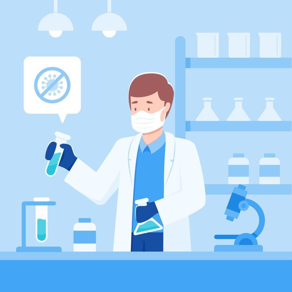 Scientist Trying to Develop Coronavirus Vaccine vector