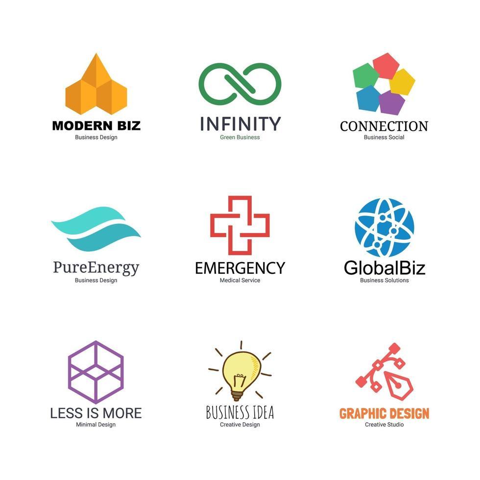 plantilla de diseño de logotipo abstracto vector