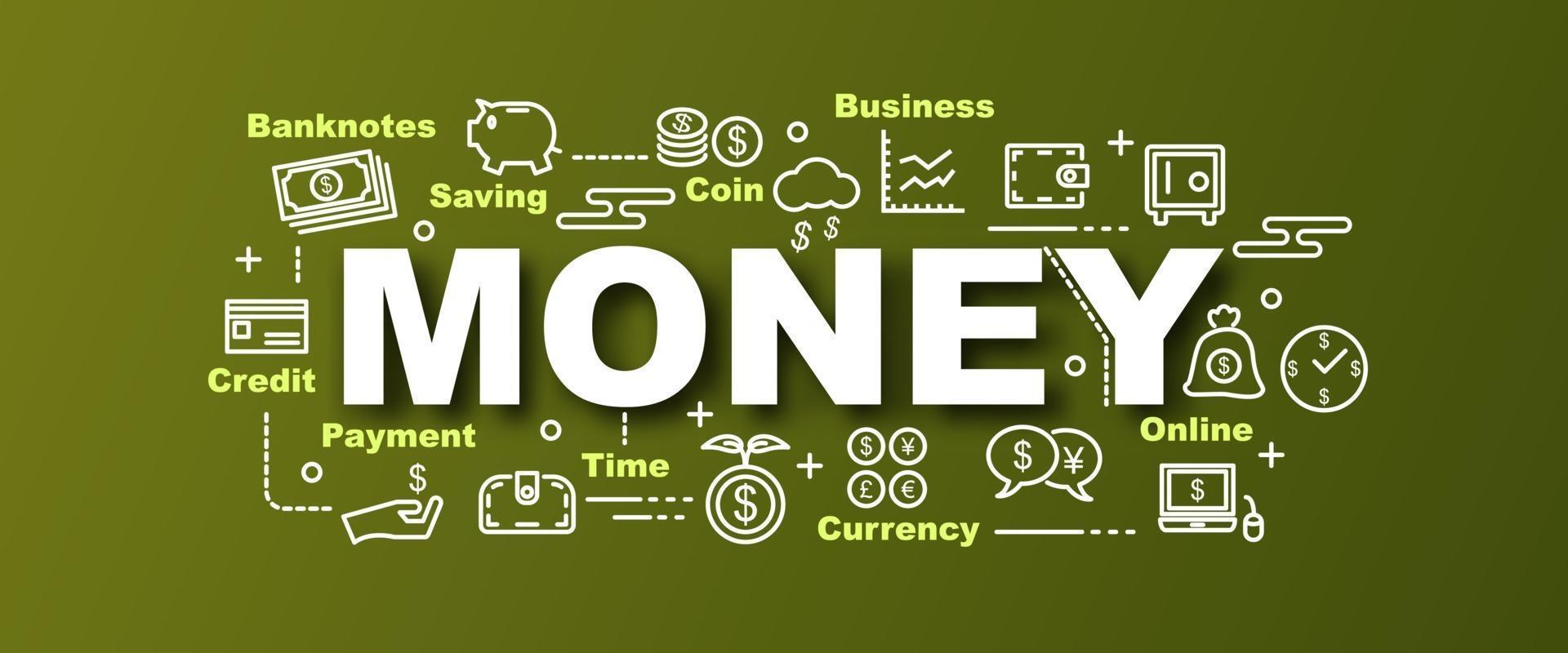 banner de moda de vector de dinero