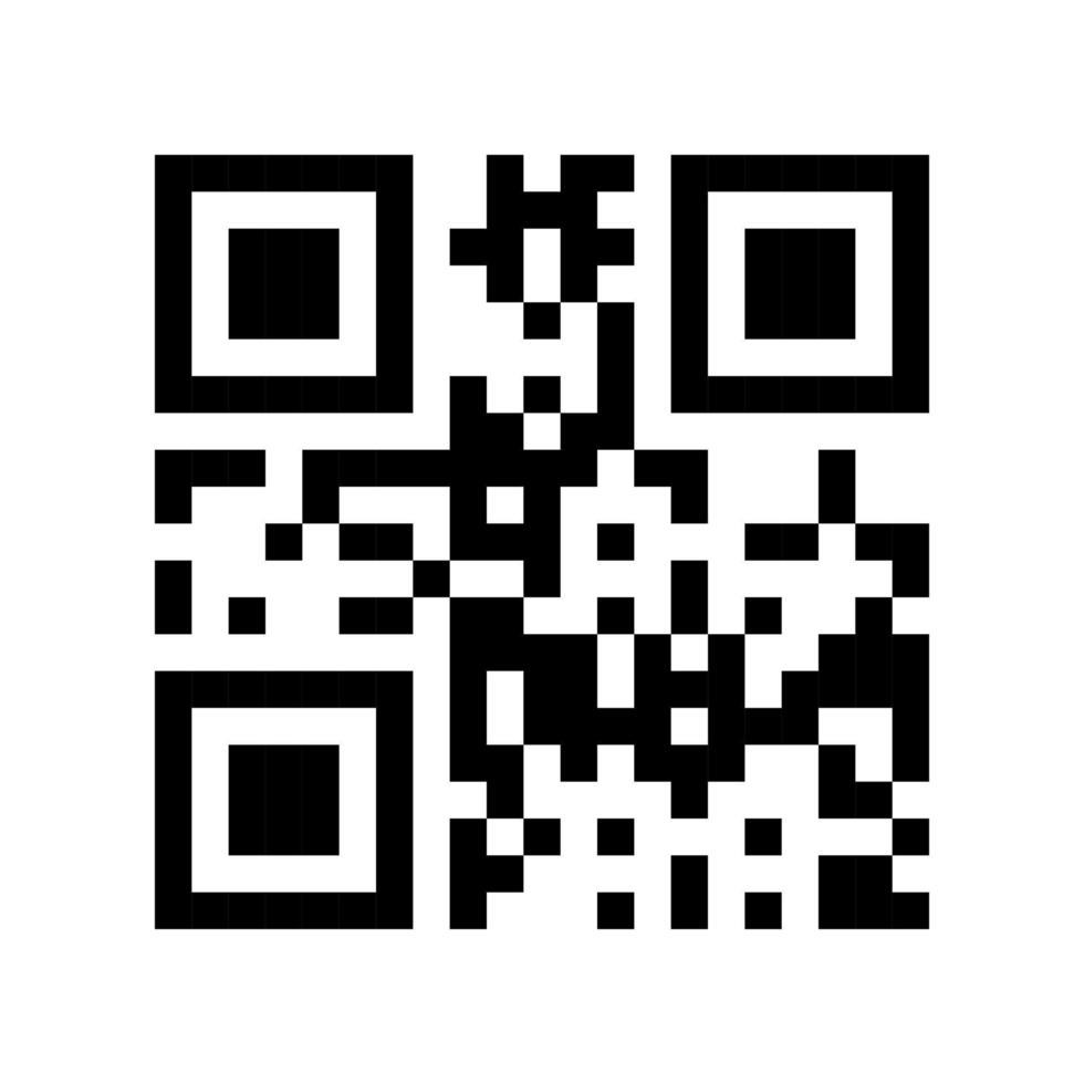 plantilla de código qr lista para escanear con smartphone. ilustración vectorial. vector