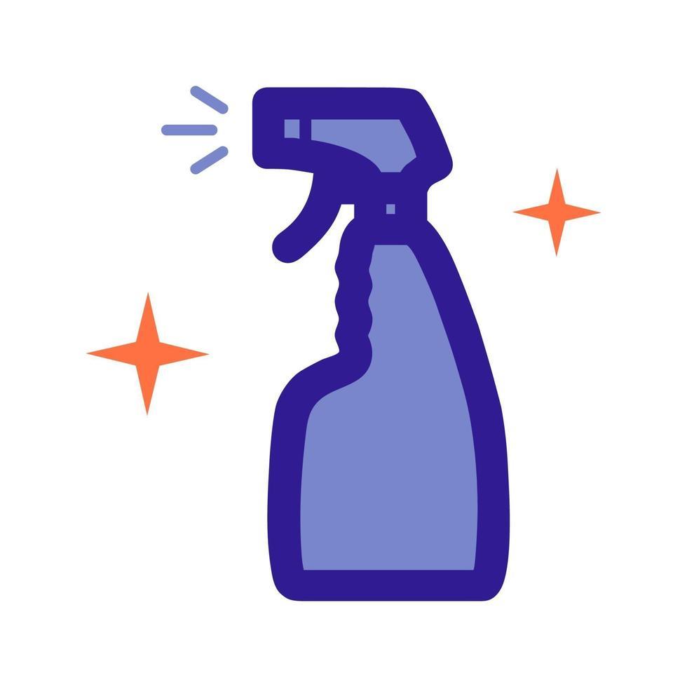 Icono de contorno de atomizador de agente de limpieza. elemento vectorial del conjunto, dedicado a la limpieza e higiene. vector