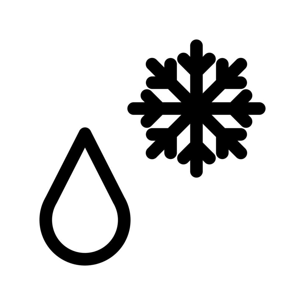 icono de contorno de precipitación. elemento blanco y negro del conjunto dedicado weater, vector lineal.