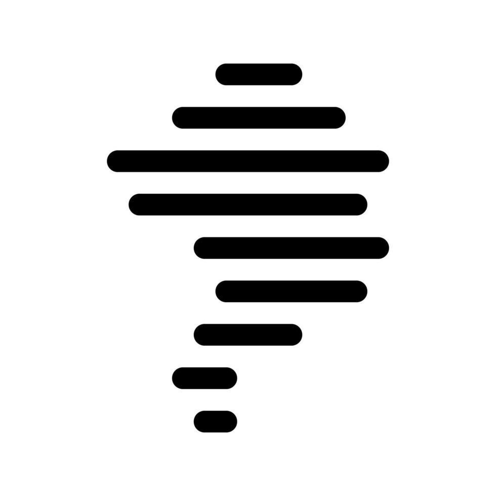 icono de contorno de tornado. elemento blanco y negro del conjunto dedicado weater, vector lineal.
