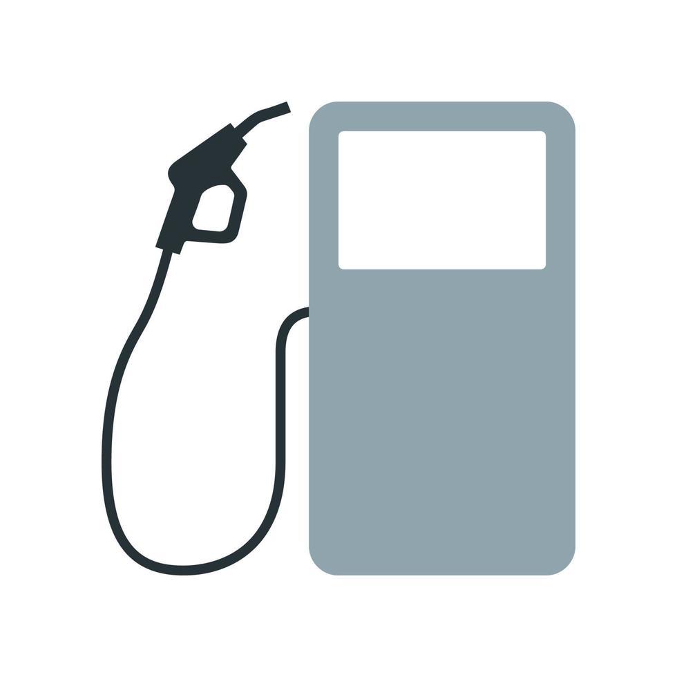 icono de la gasolinera. elemento del conjunto dedicado a la producción, procesamiento y transporte de petróleo y gas. vector