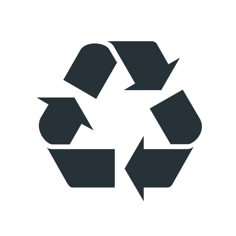 signo de producción de reciclaje. elemento del conjunto dedicado a la producción, procesamiento y transporte de petróleo y gas. vector