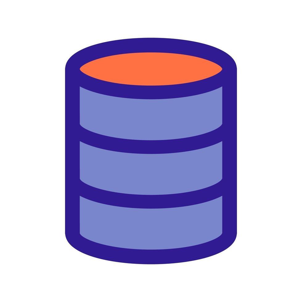 icono de esquema de base de datos. elemento vectorial del conjunto, dedicado a big data y aprendizaje automático. vector