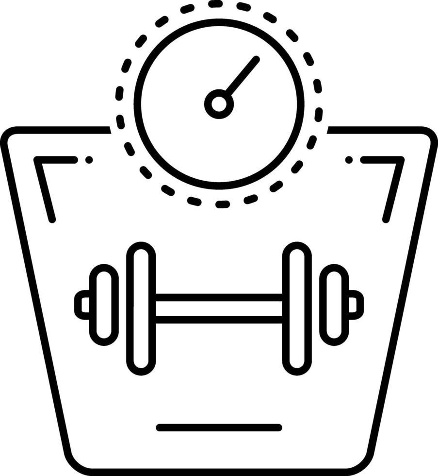 icono de línea para aumento de peso vector