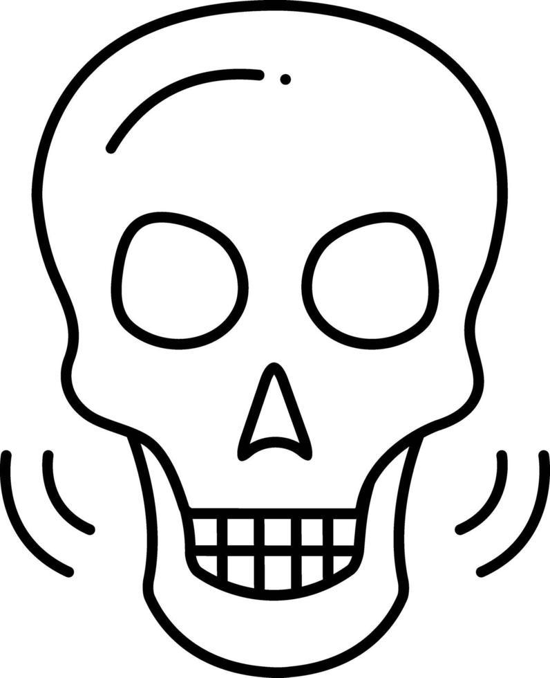 icono de línea para osteología vector