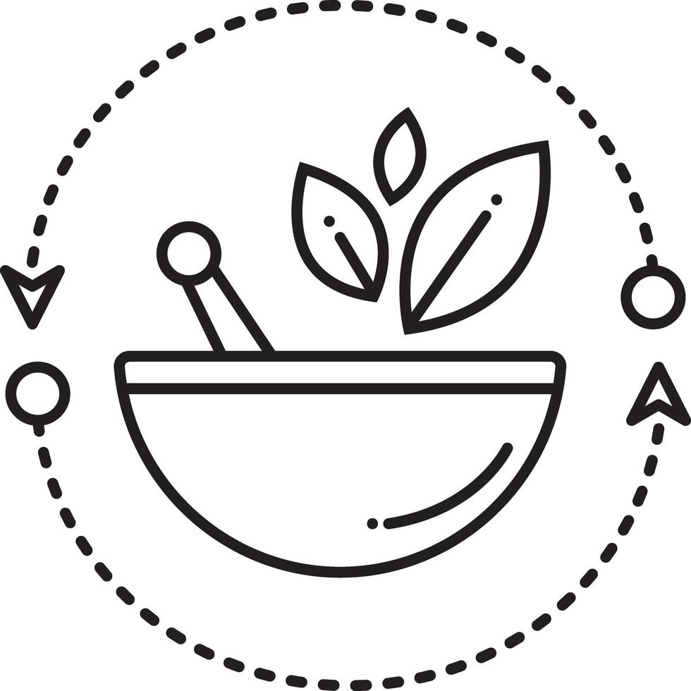 icono de línea de medicina alternativa vector