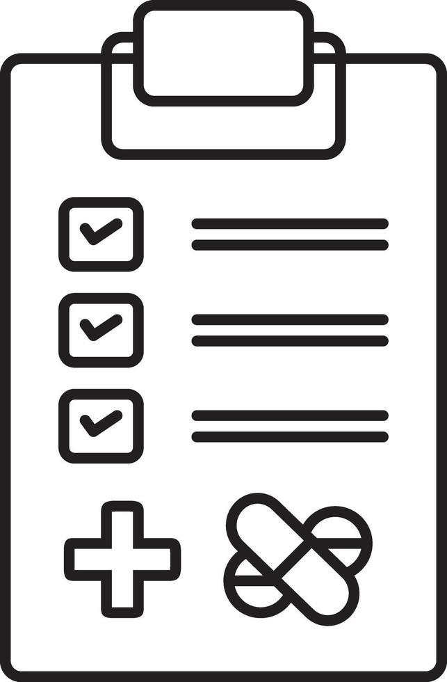 icono de línea para pruebas médicas vector