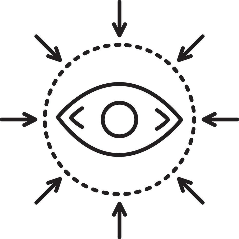 icono de línea para servicios de atención ocular vector