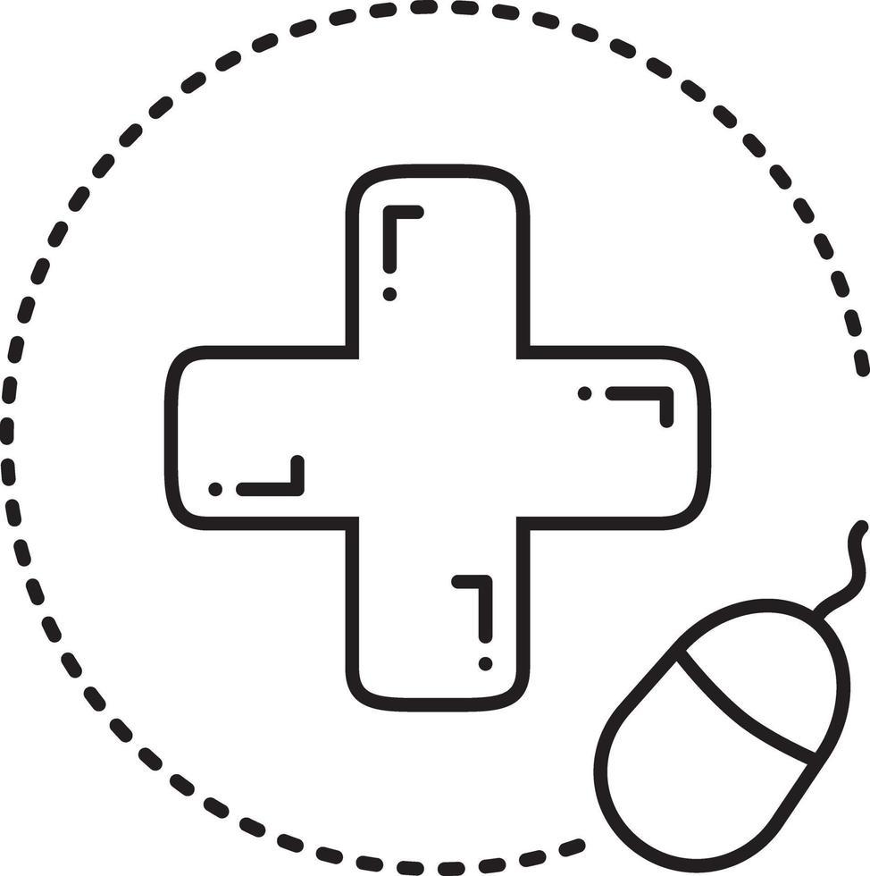 icono de línea para farmacia en línea vector