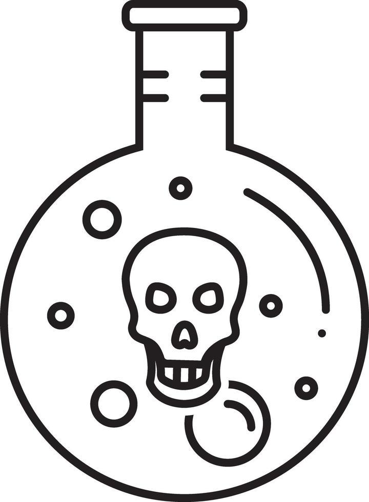 icono de línea para ácido vector