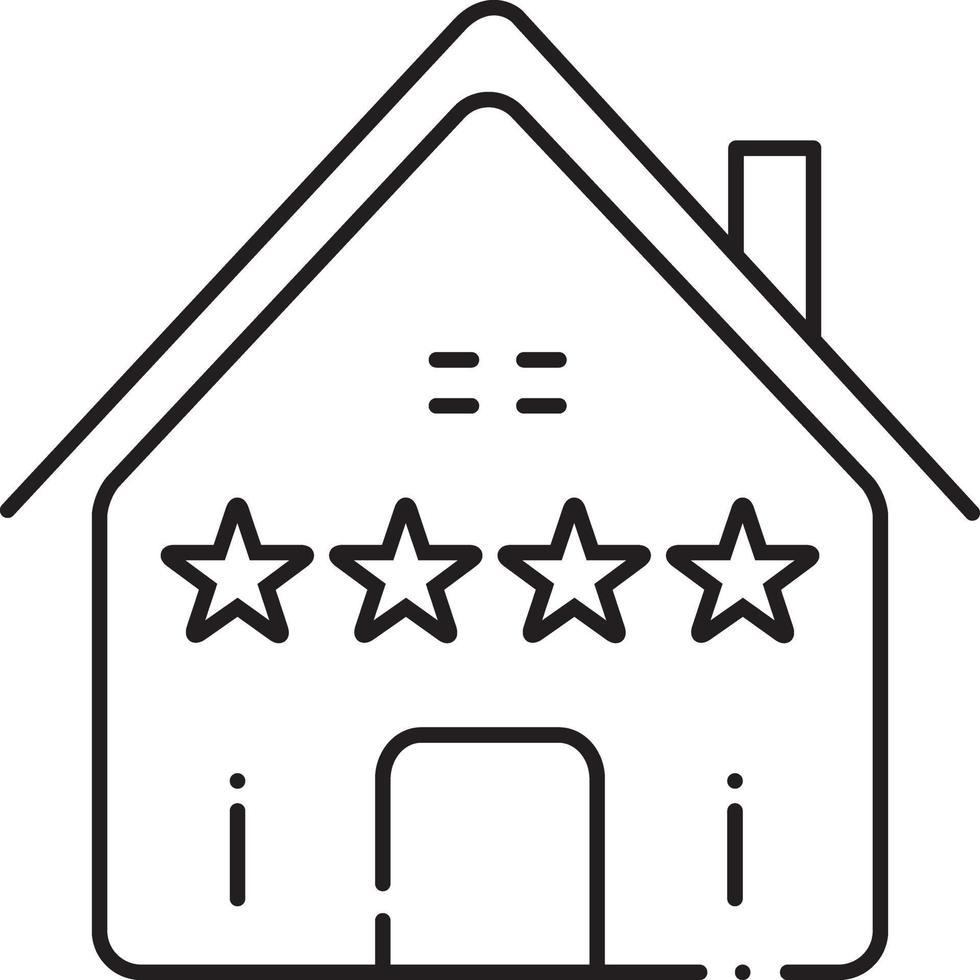 icono de línea para comentarios inmobiliarios vector