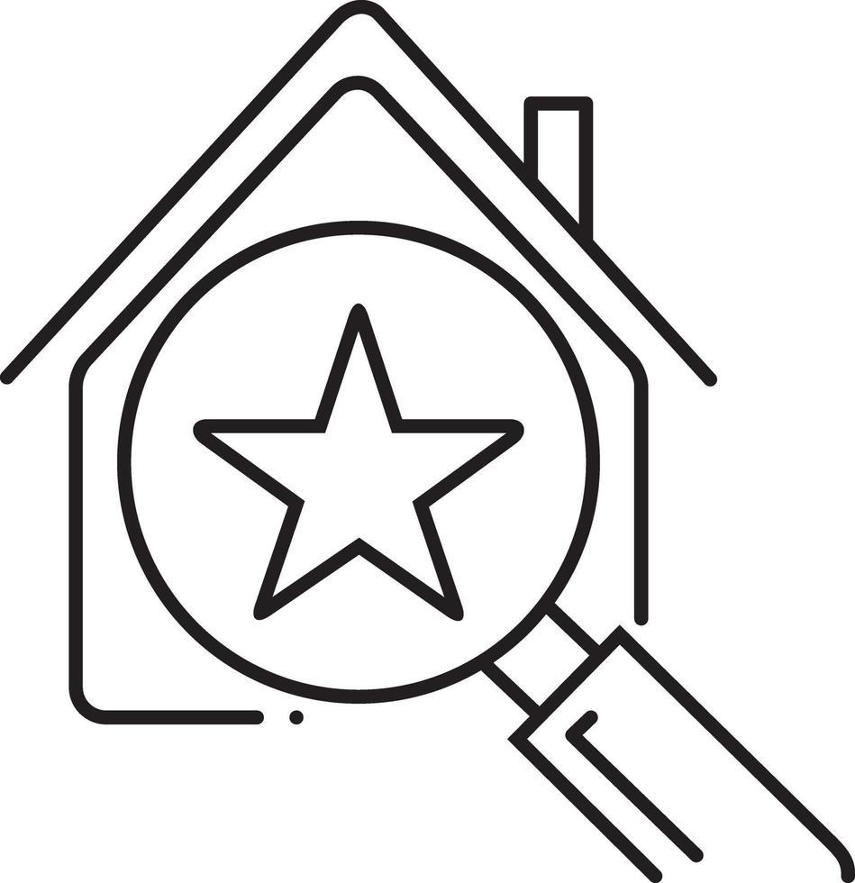 icono de línea para el mejor hogar vector