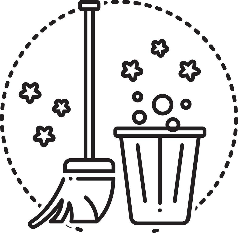 icono de línea para servicio de limpieza vector