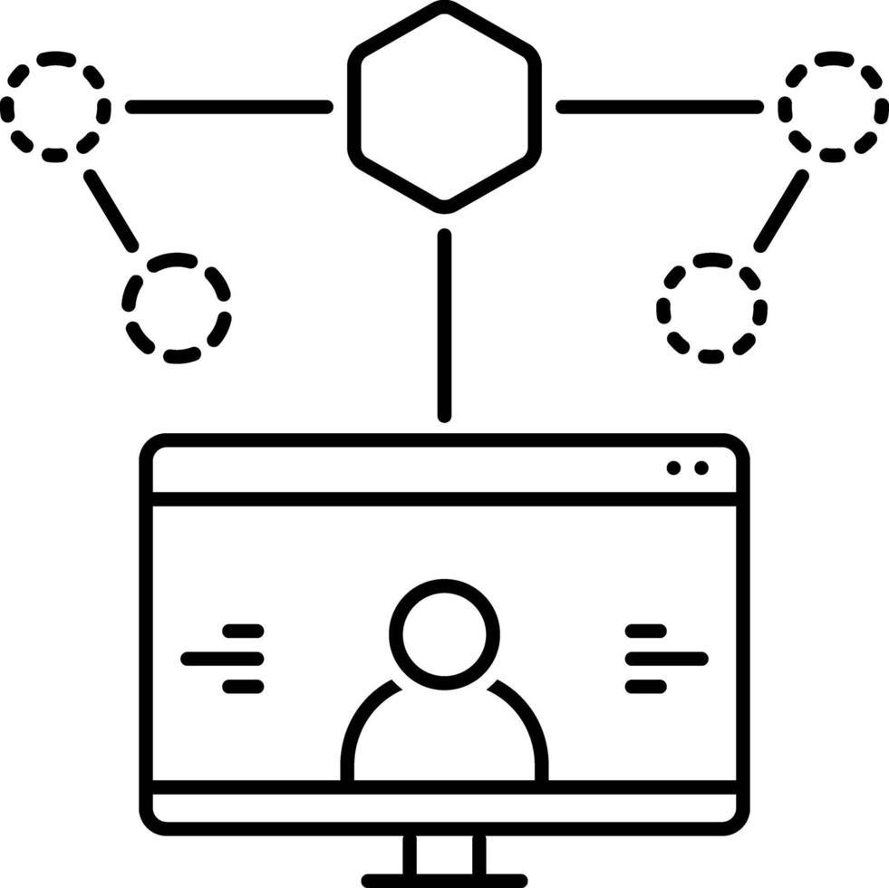 icono de línea para el diseño de la experiencia del usuario vector