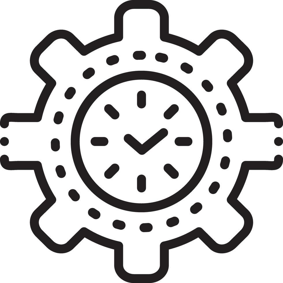icono de línea para la gestión del tiempo vector