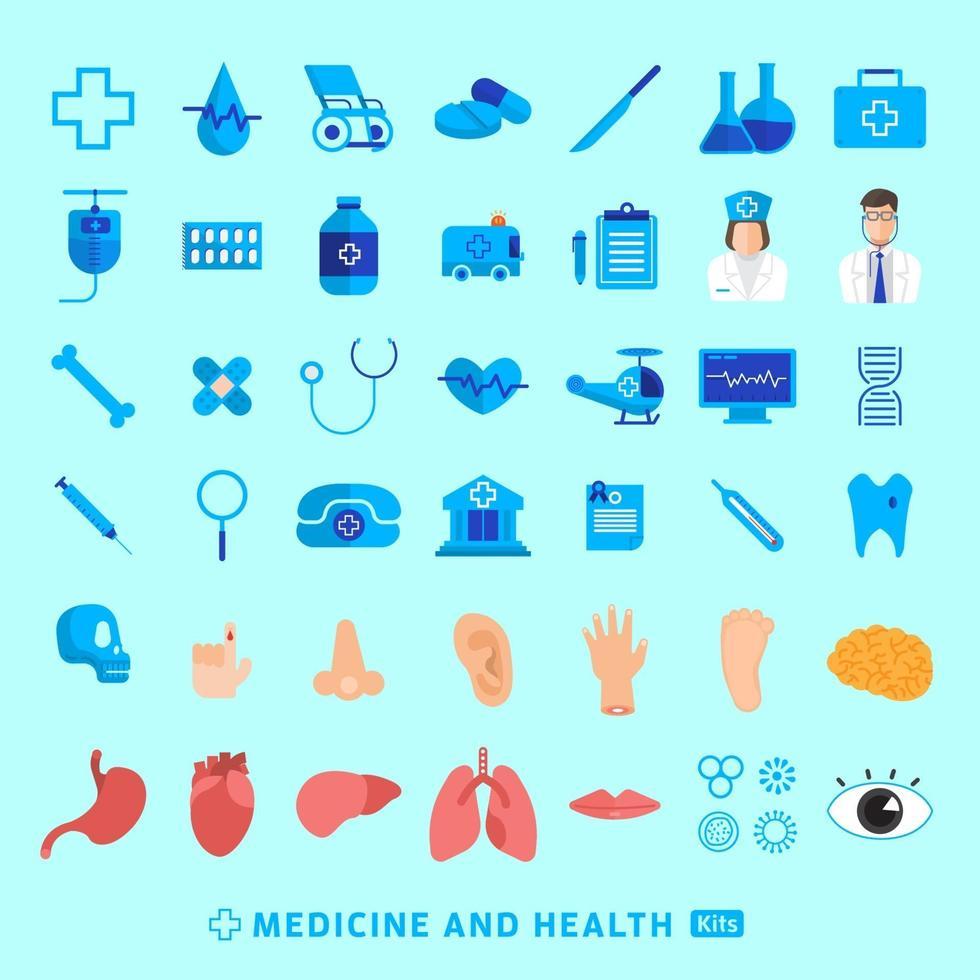 conjunto de iconos de medicina vectorial vector