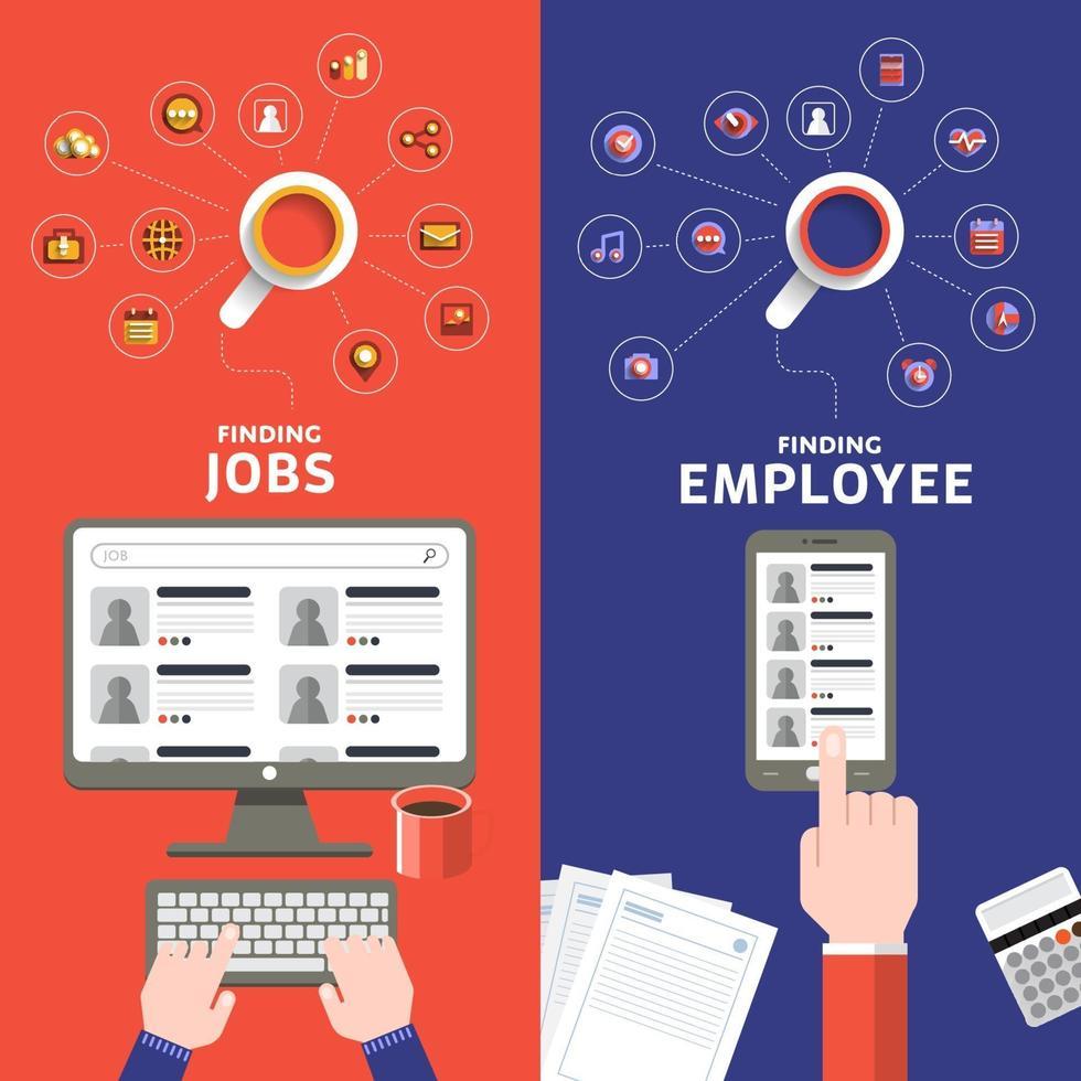 ilustrar el concepto de contratación vector