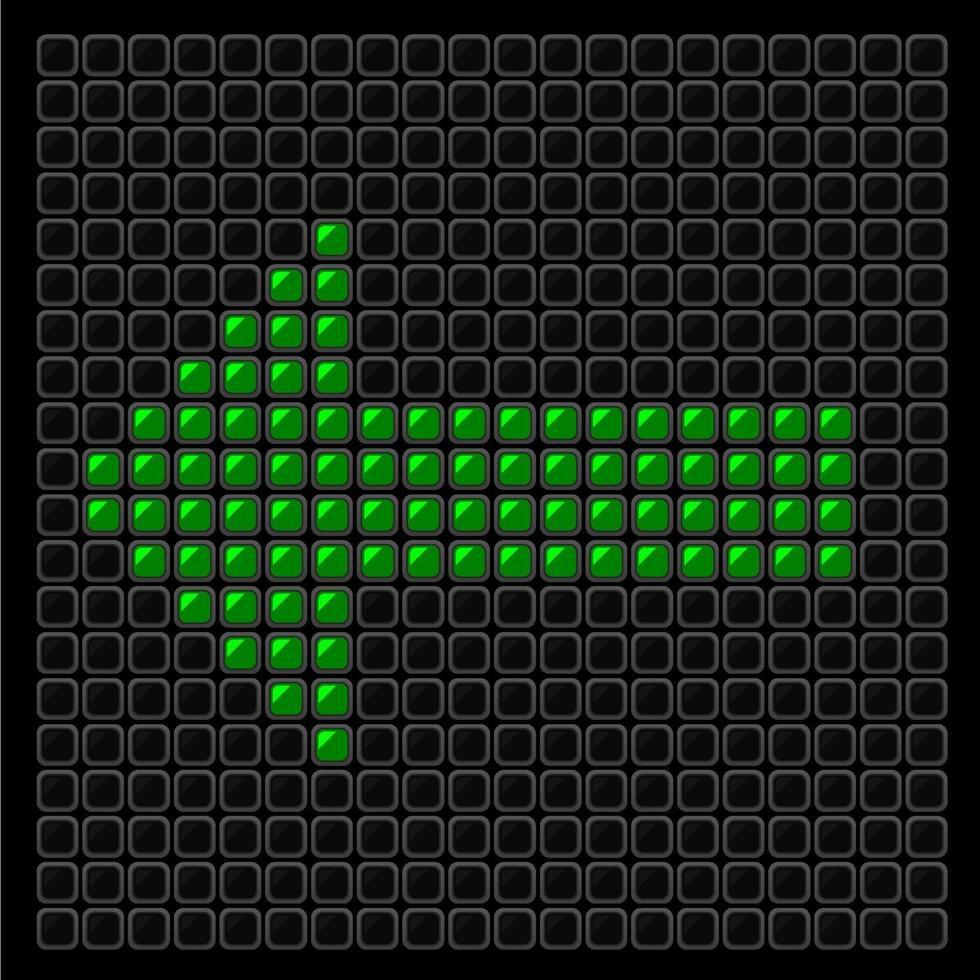 sign arrow green vector