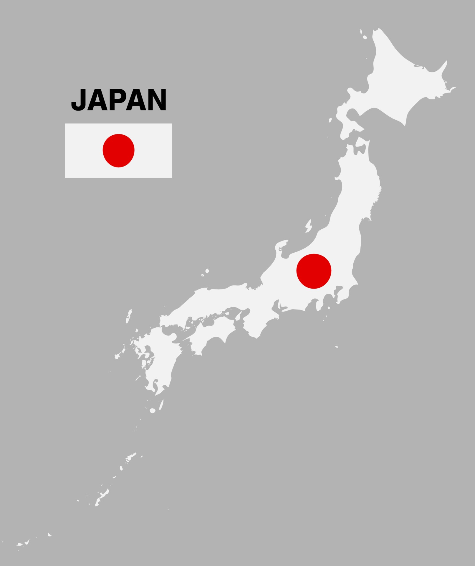 Cartina Giappone In Italiano.Japan Map With Flag Isolated Vector Eps10 2264445 Vector Art At Vecteezy