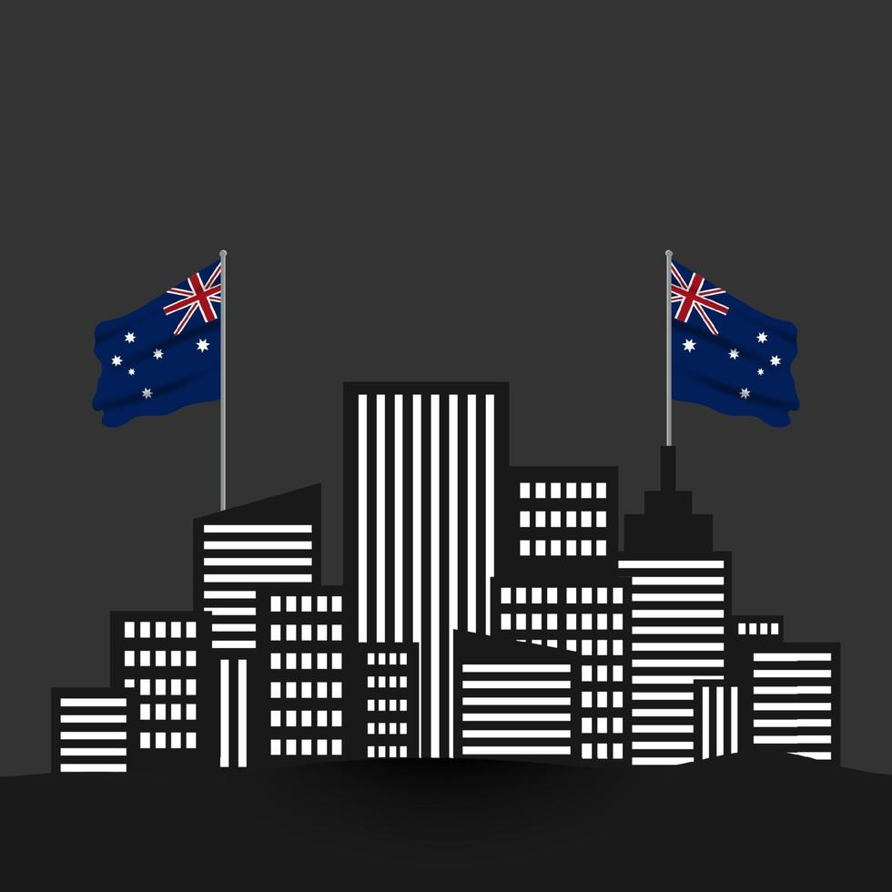 Happy Australia day 26 January design template. independence day vector