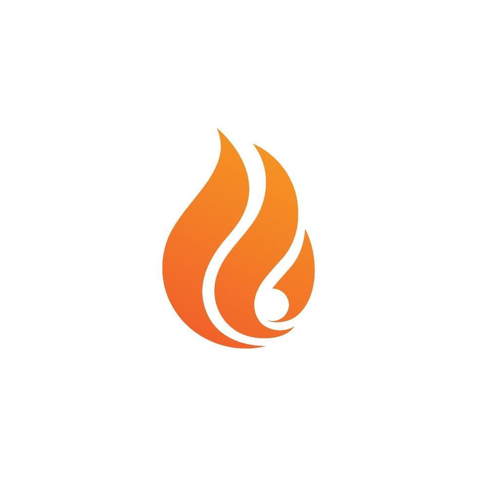 Fire flame logo vector illustration