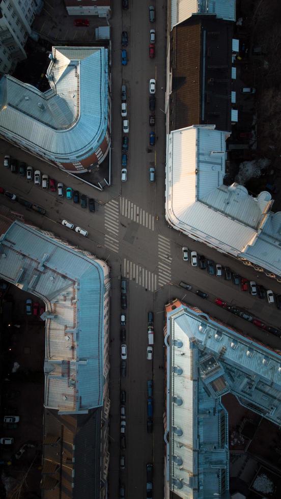calles de la ciudad desde arriba foto