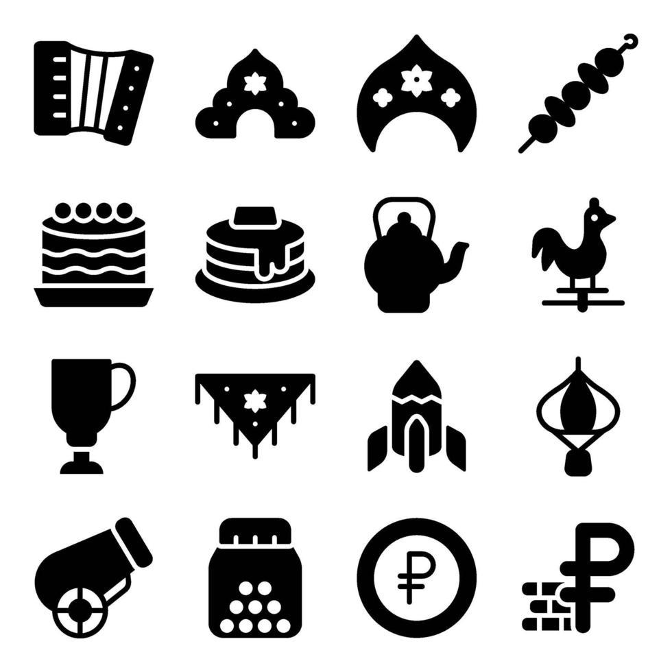 Russian Cultural Elements vector