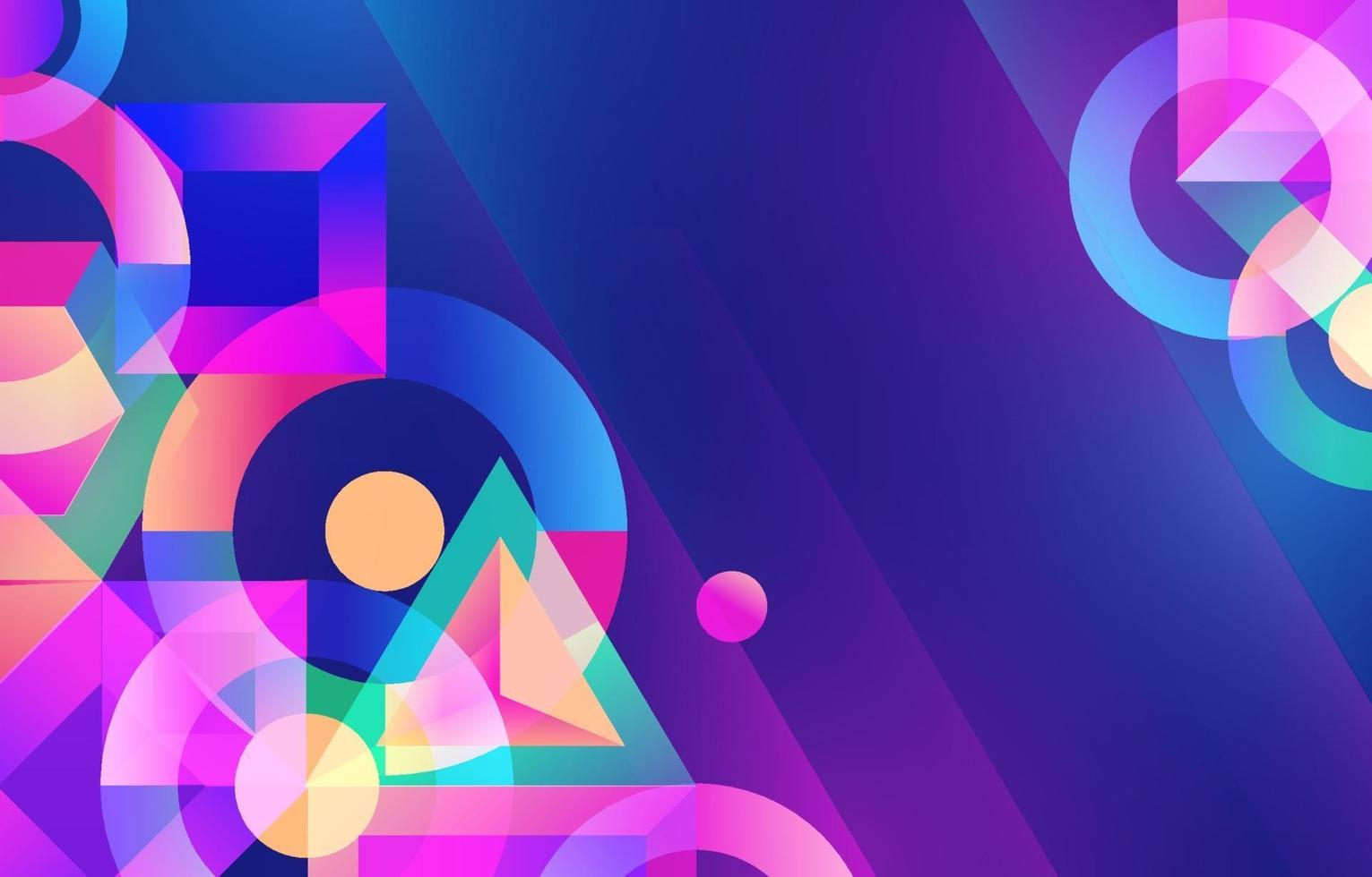 Geometric Abstract Shapes Background vector