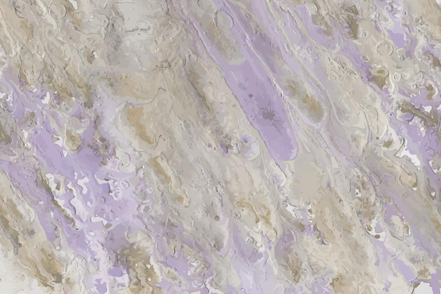 Purple, violet and beige abstract acrylic liquid oil painted background vector